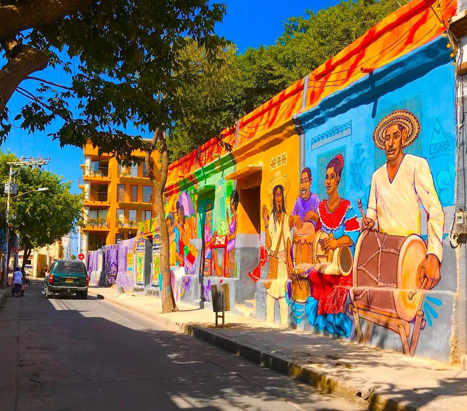 Murales del Bicentenario Calle 18 Santa Marta